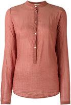 Forte Forte buttoned round neck blouse - women - Silk/Cotton - II