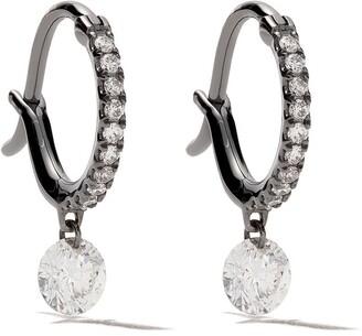 Raphaele Canot 18kt black gold Set Free Diamond mini hoops