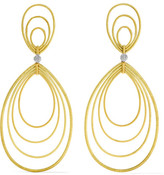 Buccellati Hawaii Waikiki 18-karat Yellow And White Gold Earrings - one size