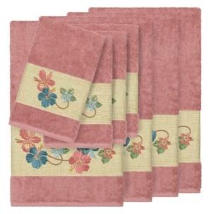Linum Home Caroline 8-Pc. Embroidered Turkish Cotton Bath and Hand Towel Set Bedding