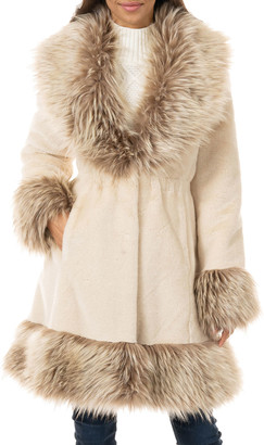 Fabulous Furs Park Avenue Fit-&-Flare Faux-Fur Coat - Inclusive Sizing