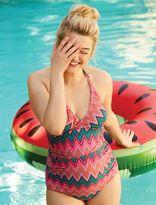 Printed Halter Maternity One Piece Swim Suit