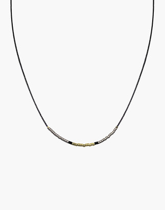 Madewell Cast of Stones Beaded Intention Necklace in Gold and Silver