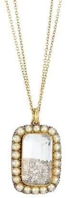 Renee Lewis 18K Yellow Gold, Diamond & Round Pearl Shake Necklace