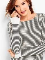 Talbots Long-Sleeve Stripe Boatneck