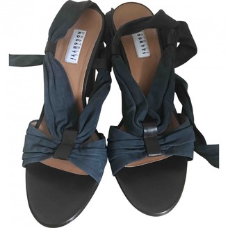 Fratelli Rossetti Navy Leather Sandals