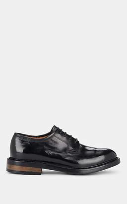 Officine Creative Men's Burnished Leather Bluchers - Black