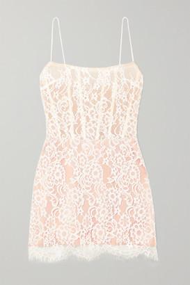 Rasario Lace And Tulle Mini Dress - White