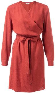 Ya-Ya Wrapped Knee Length Jacquard Dress - 8