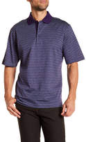 Bugatchi Striped Mercerized Polo Shirt