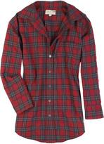 Laurent oversized checked shirt