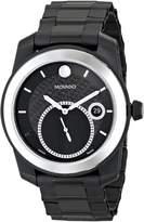 Movado Men's 0606614 Vizio Tungsten Carbide Bezel PVD Bracelet Dial White Accents Watch
