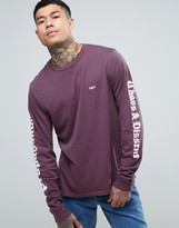 Obey Quickstrike Long Sleeve T-shirt With Sleeve Print