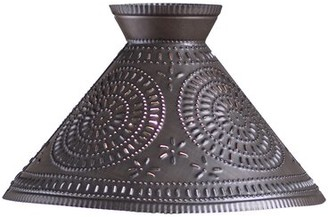 "August Groveâ® Finbar Chisel 16"" Metal Empire Lamp Shade August GroveA Finish: Kettle Black"