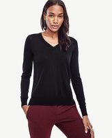 Ann Taylor Merino Wool V-Neck Sweater