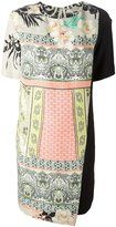 Etro mixed print panelled dress