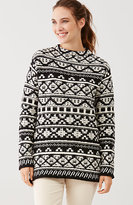J. Jill Jacquard Mock-Neck Sweater