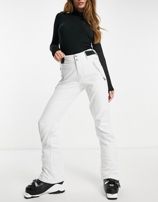 Protest Lole softshell ski pant in white