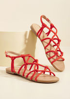 ModCloth All for Knot Sandal in Crimson in 7.5