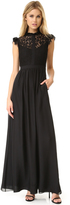 Rachel Zoe Lace Paneled Gown