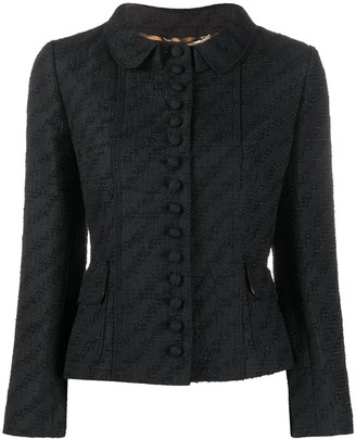 Dolce & Gabbana Diagonal Boucle Cropped Jacket