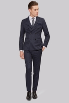 Moss Bros Skinny Fit Navy Pinstripe Double Breasted Suit