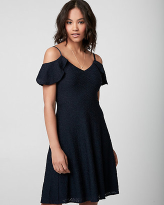 Le Château Crochet Cold Shoulder Dress