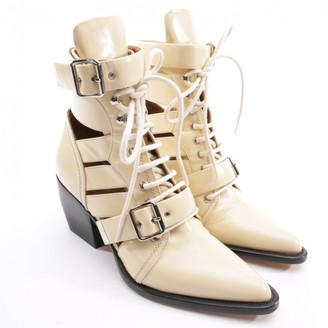Chloé Rylee Beige Leather Ankle boots
