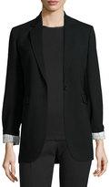 Joseph Laurent Stretch Wool Blazer, Black