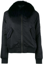 Yves Salomon army bomber with fur collar