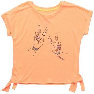Calvin Klein Peace Sign Side Tie T-Shirt