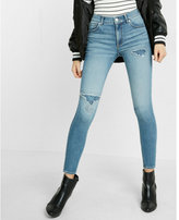 Express high waisted lace-up back EXP tech ankle jean legging