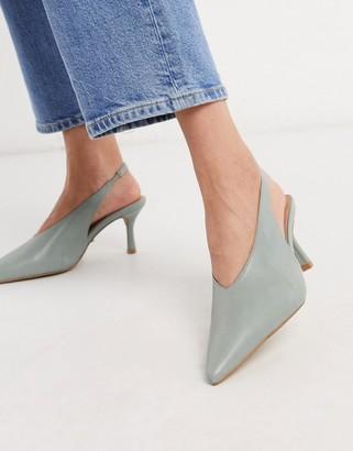 Topshop slingback heels in sage