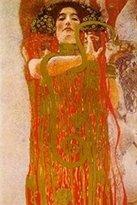 Gustav 1art1 Posters Klimt Poster Art Print - Hygieia (32 x 24 inches)