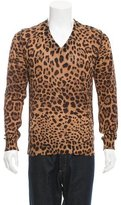Dolce & Gabbana Leopard V-Neck Sweater