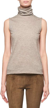 The Row Clovis Cashmere Sleeveless Turtleneck Sweater