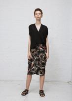 Zero Maria Cornejo flora black curved ori skirt