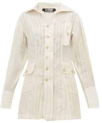 Jacquemus Roman Linen Striped Shirt - Womens - Ivory
