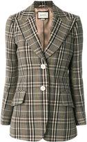 Gucci checked single breasted blazer