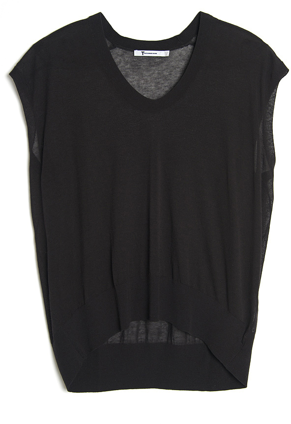 Alexander Wang Cap Sleeve Knit Top