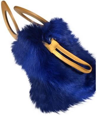 MAISON BOINET Blue Shearling Handbags