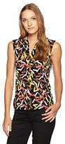 Nine West Women's Printed Ity Criss Cross Cami