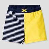 Cat & Jack Toddler Boys' Stripe Swim Trunk Cat & Jack - Navy/Yellow