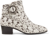 Gucci Elaphe Ankle Boots - Snake print