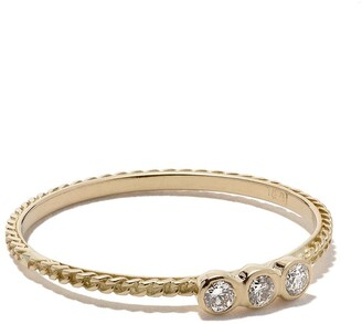 Wouters & Hendrix Gold 18kt yellow gold Chain Diamond ring