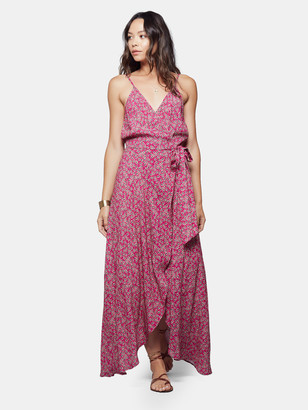 Band of Gypsies Mallorca Faux Wrap Floral Maxi Dress