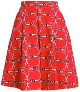 Louche WALERIA SWIMMER Aline skirt red