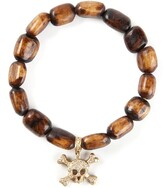 Thumbnail for your product : Loree Rodkin Gold And Diamond Skull Head Bracelet