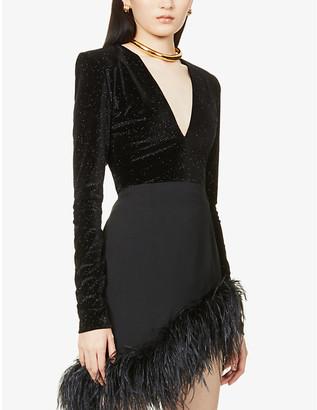Alexandre Vauthier Glitter-embellished velvet body