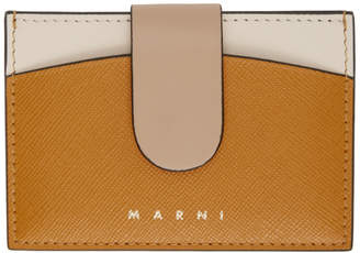 Marni Orange and Beige Law Card Holder